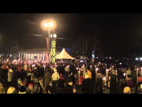 Latvijas Republikas 96. gadadienas lāpu gājiens Rīgā 18.11.2014