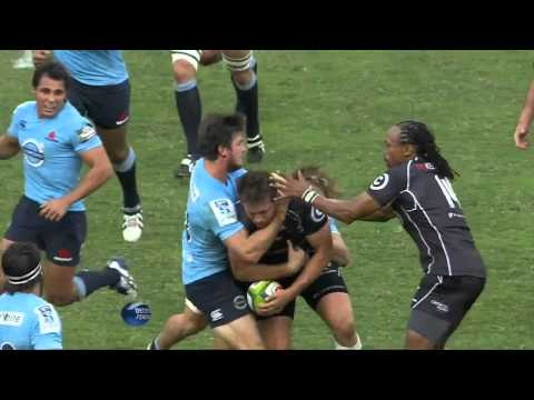 Rob Horne's high tackle on Frans Steyn | Super Rugby Video Highlights 2014 - Rob Horne's high tackle