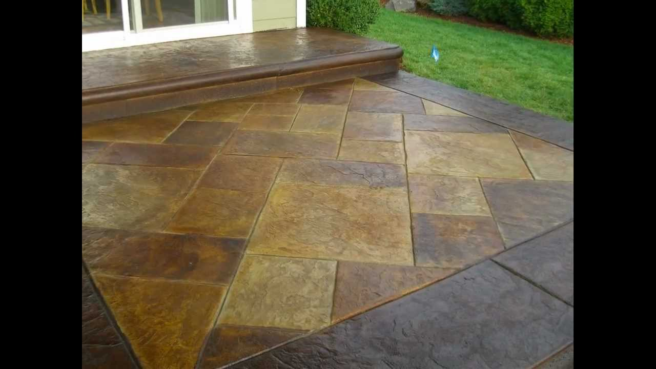 Stamped And Acid Stained Decorative Concrete Patio South