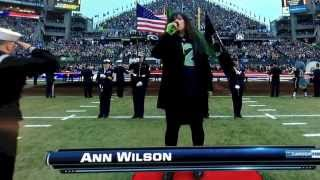 Ann Wilson Sings The National Anthem