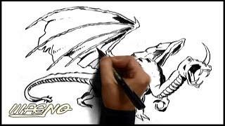 Curso De Desenho: Como Desenhar Um Dragão (How To Draw A