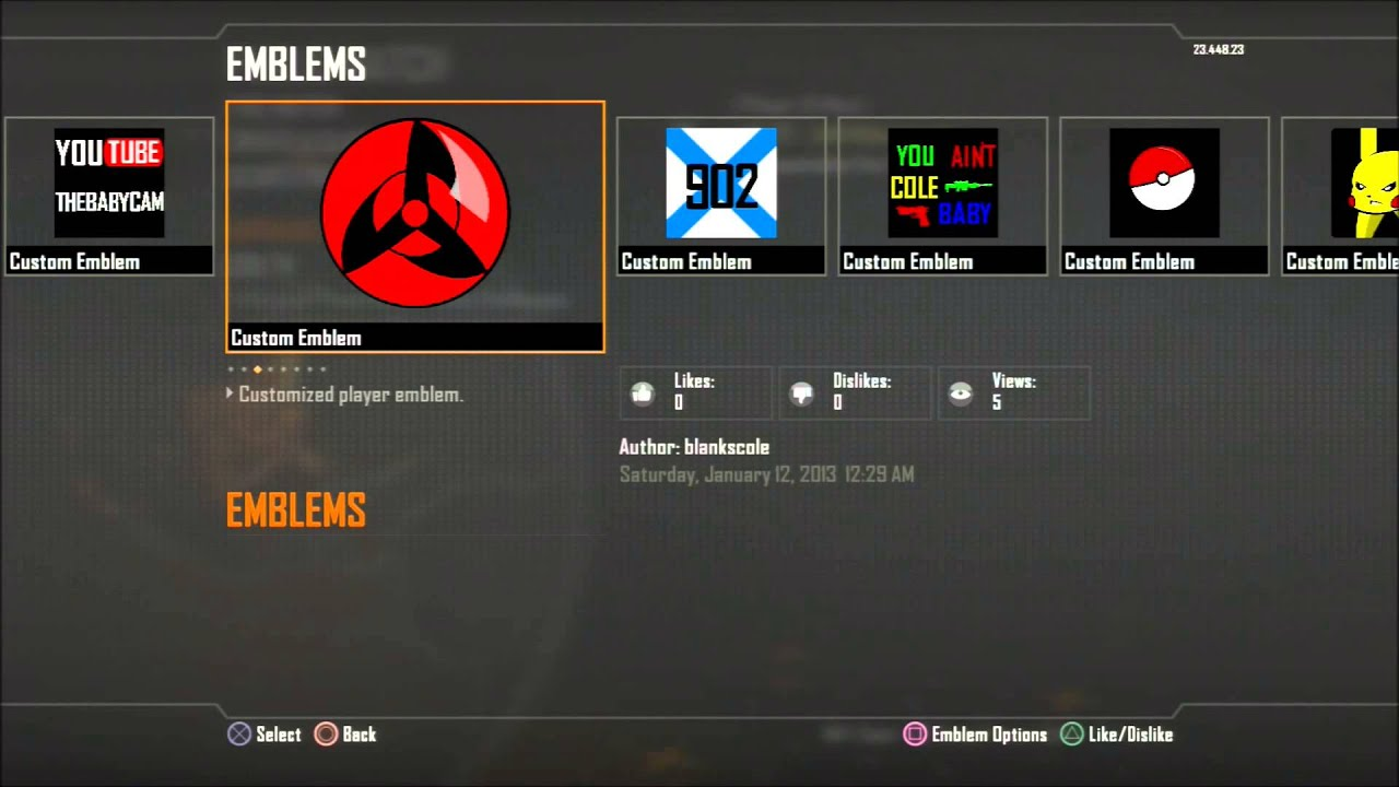 cool black ops 2 emblems youtube