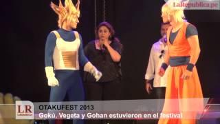 Gohan, Vegueta Y Gokú En El Otakufest 2013