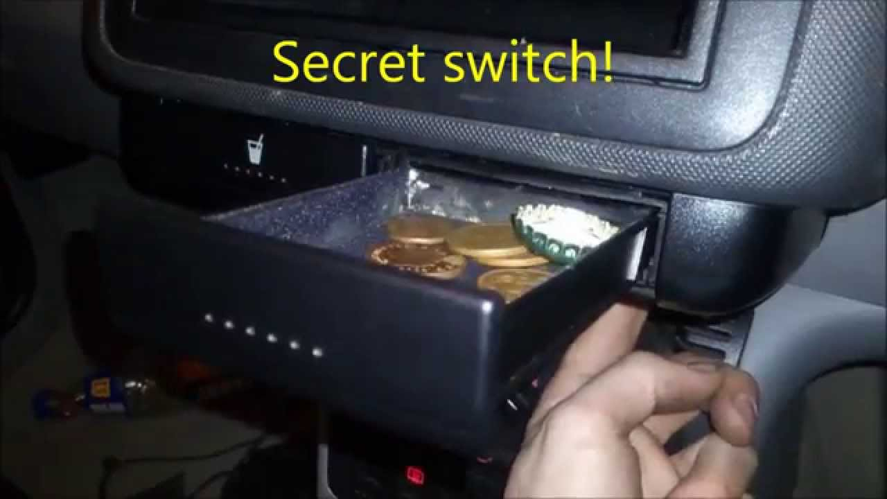 Diy secret compartment vw audi skoda seat secret switch for Diy hidden compartment