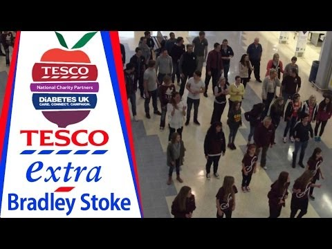 Tesco Dances for Diabetes UK (Cha Cha Slide Flash Mob)