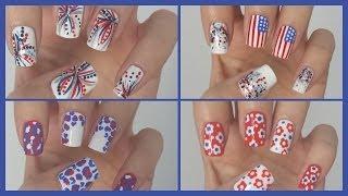 Fourth of July Nails!!! ☆ Four Easy Designs!  | MissJenFABULOUS