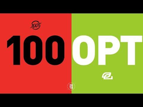 100 vs OPT - NA LCS Week 9 Match Highlights (Summer 2018)
