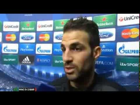Man City 0 Barcelona 2 : Cesc Fabregas Post Match Reaction