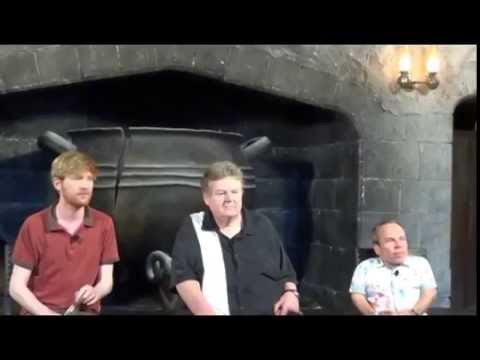 Warwick Davis, Robbie Coltrane, Domhnall Gleeson Q&A at Diagon Alley Media Preview 6-19-14