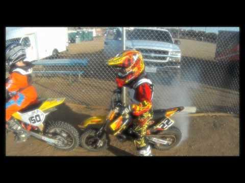 Motocross Kids Rippin On Dirt Bikes (part 1)