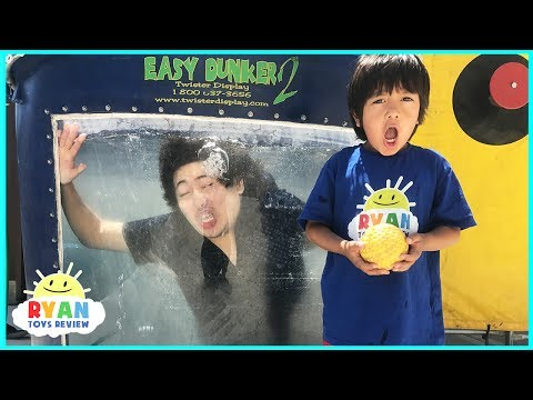 DUNK TANK CHALLENGE EXTREME PARENT VS KID Family Fun Activities with Ryan ToysReview