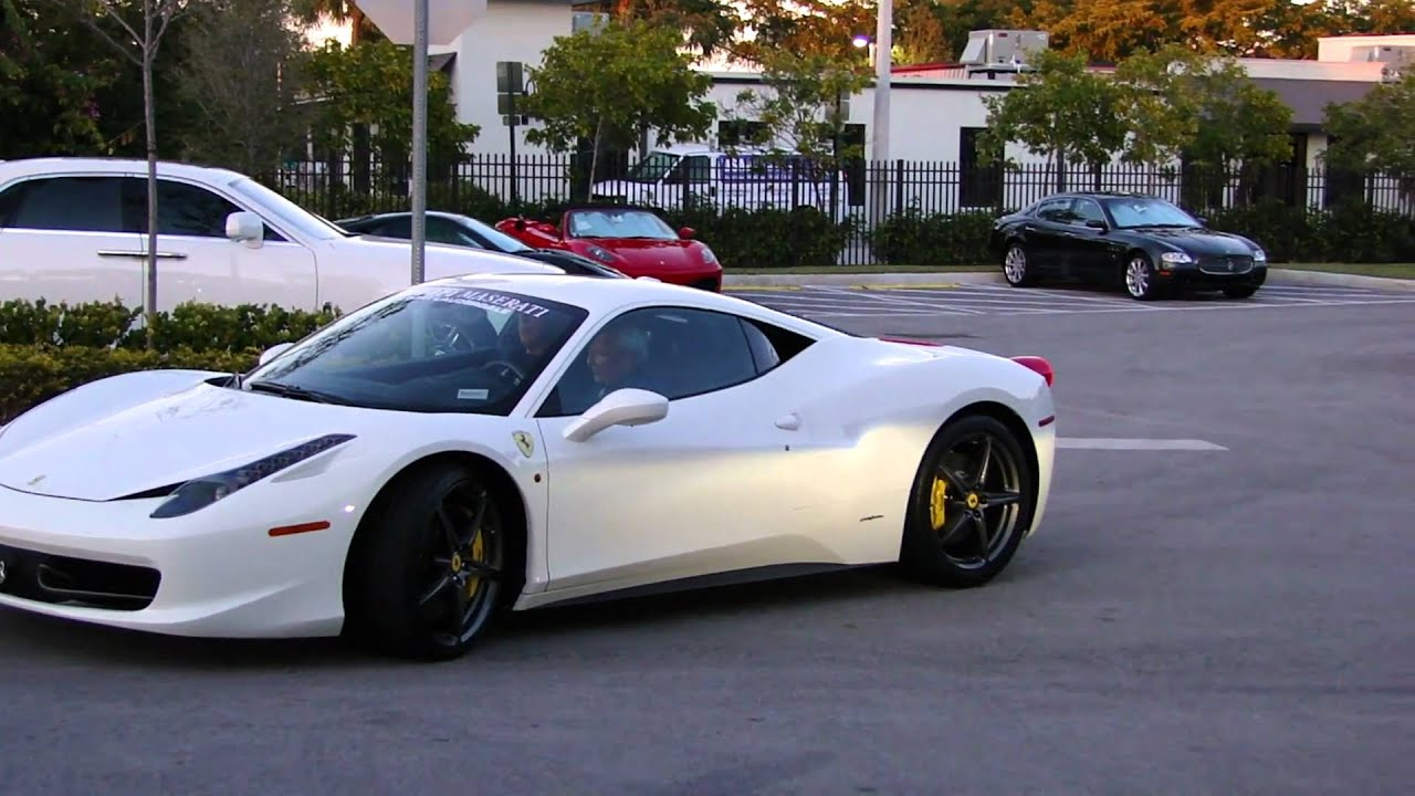 white ferrari 458 italia 2 youtube - Ferrari 458 Blue And White