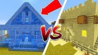 Thử Thách Làm Nhà Băng Và Cát Trong Minecraft
