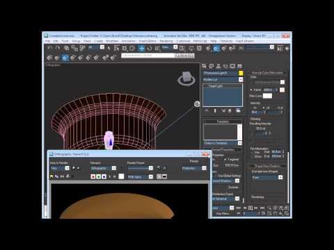 3dsmax урок 5 столик амфора lighting
