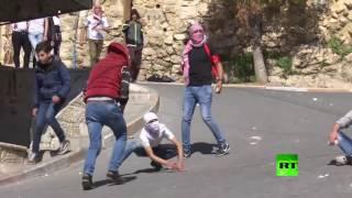 مواجهات بين متظاهرين فلسطينيين والجيش الإسـرائيلي في مدينة الخليل بالضـفة الغربية | قنوات أخرى