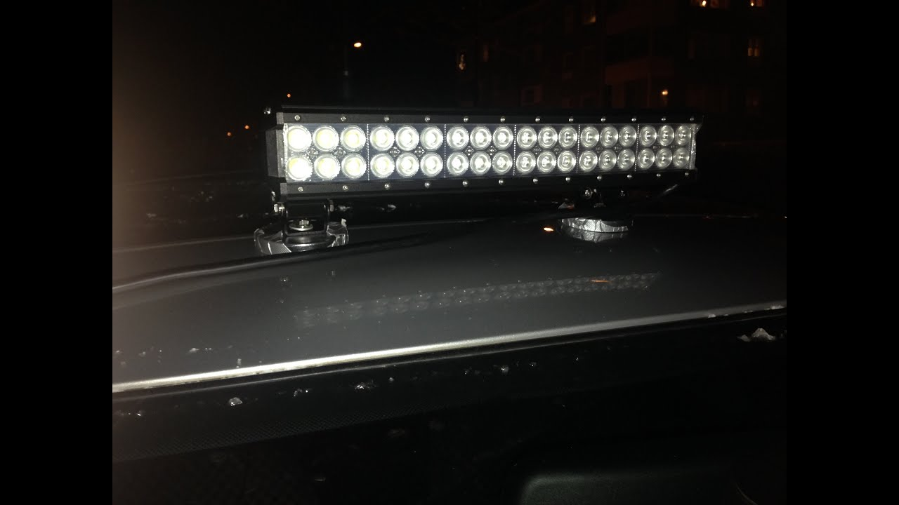 cree led flood work light bar off road 4wd truck boat lamp youtube. Black Bedroom Furniture Sets. Home Design Ideas