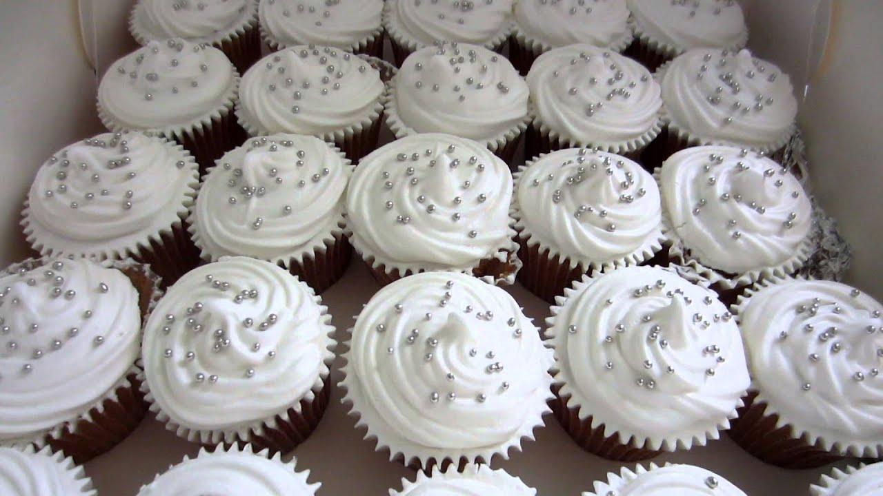Wedding Cupcakes White for Susan & Chris