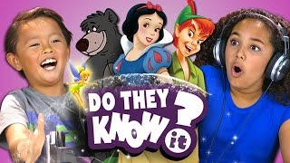 DO KIDS KNOW CLASSIC DISNEY SONGS? (REACT: Do They Know It?)