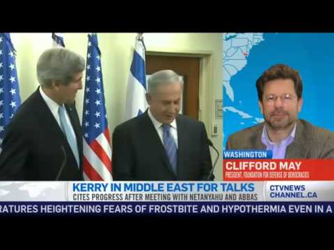 Clifford May on John Kerry's Mideast peace efforts (CTV News)