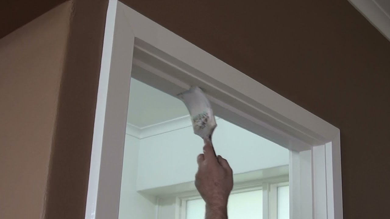 Painting door frames