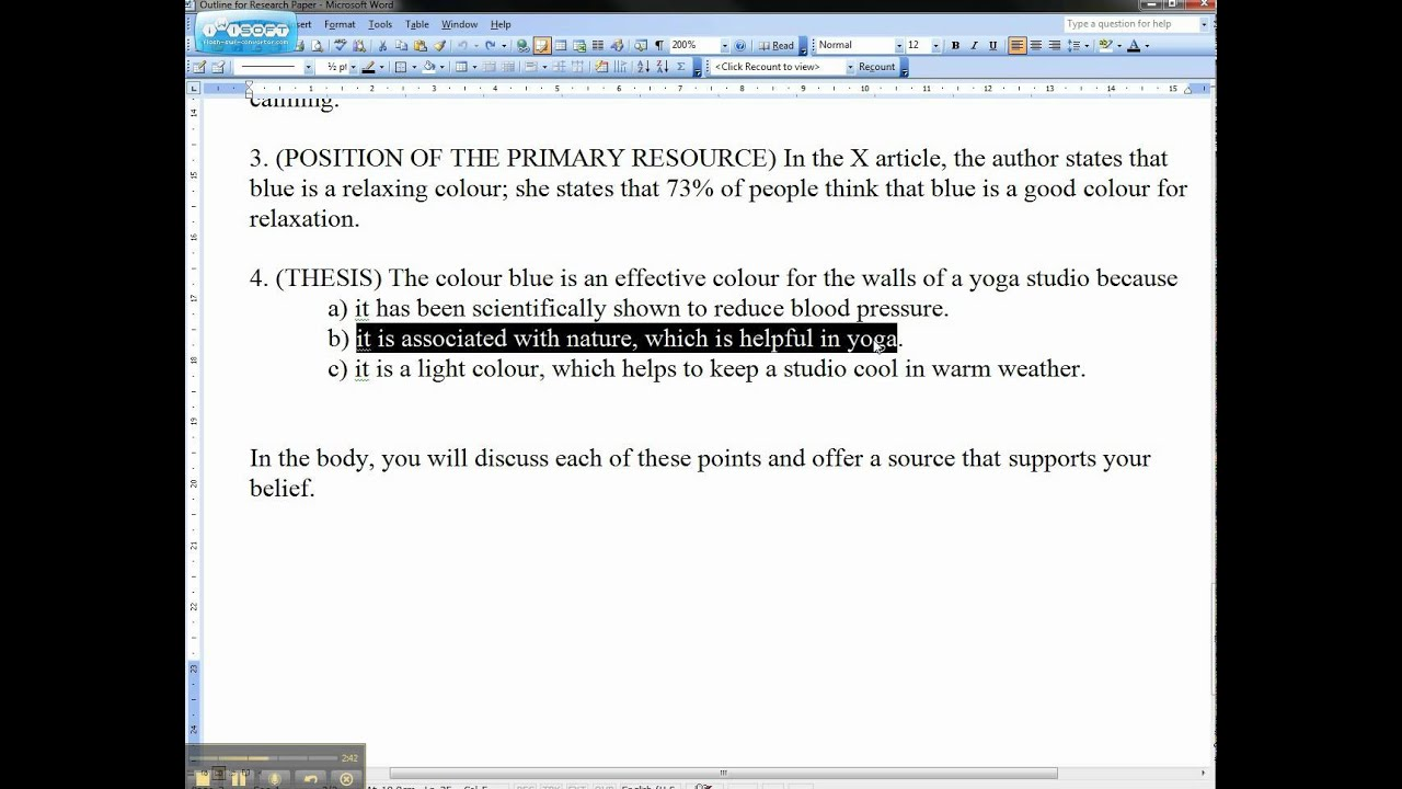 write thesis statement essay