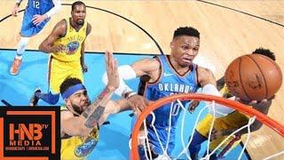 Golden State Warriors vs Oklahoma City Thunder Full Game Highlights / April 3 / 2017-18 NBA Season