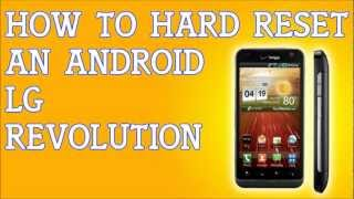 How To Hard Reset A LG Revolution For Verizon Forgot
