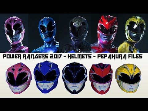 Power Rangers 2017 - Helmets - Pepakura Files