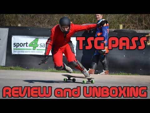 TSG Pass Downhill Longboard Fullface Helmet Review/Unboxing