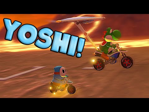 Mario Kart 8 Deluxe Funny Moments - Yoshi Shocked The World!