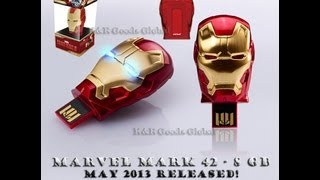 IRON MAN 3 Mark 42 USB FLASH DRIVE 8GB/16GB