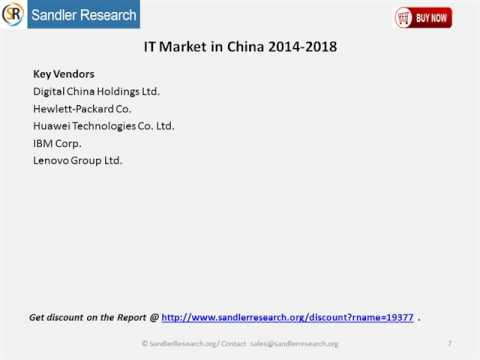 IT Market in China 2014 2018