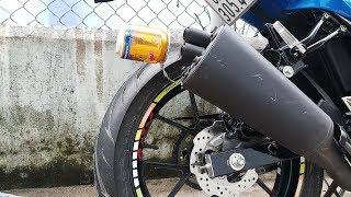 Thử gắn lon RedBull vào pô GSX R150 | Pô độ bò húc. :))