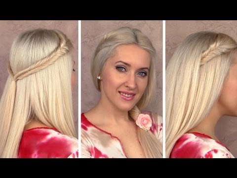 Back to school hairstyles for long hair with fishtail braids