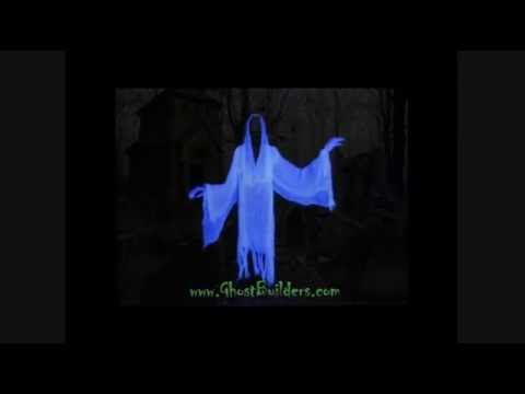 Life Size Animated Flying Crank Ghost Reaper Halloween Prop Decoration