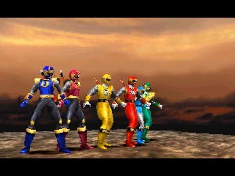 Ninpuu sentai hurricanger-Siêu nhân cuồng phong-Gameplay PS1