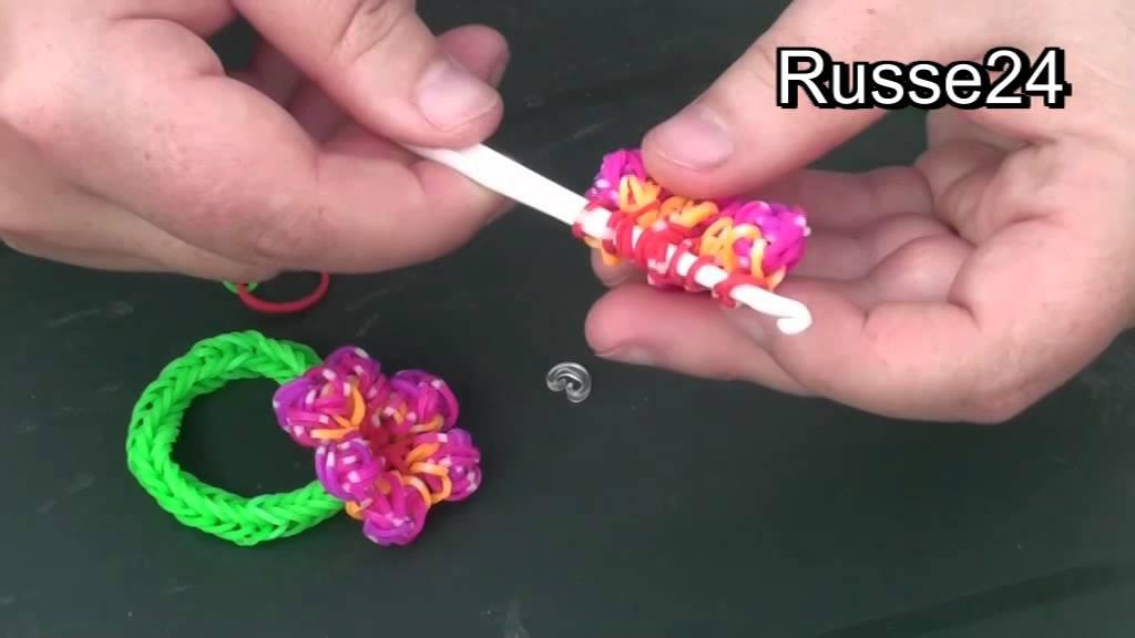 Как сделать из резинок цветов