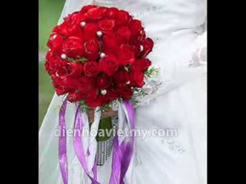 Hoa cô dâu cực đẹp - dạy cắm hoa cưới tại www.dienhoavietmy.com