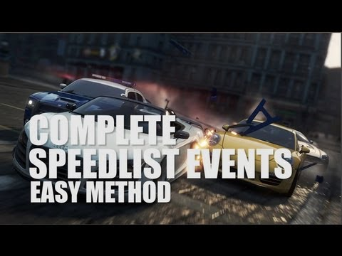 Need for Speed: Most Wanted - Easy Method for Completing SpeedList Events in Multiplayer