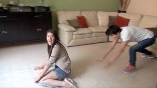 Caídas patinando en la sala