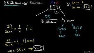 Razmerje in algebra – primer