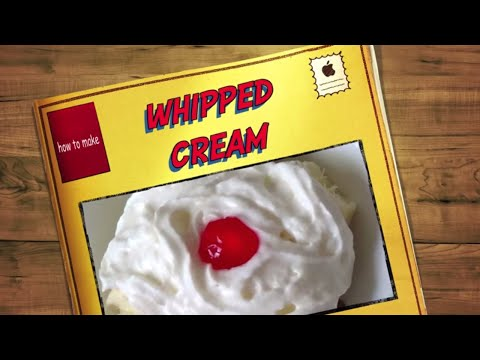 Make Whipped Cream for your Desserts!  Easiest instructions!