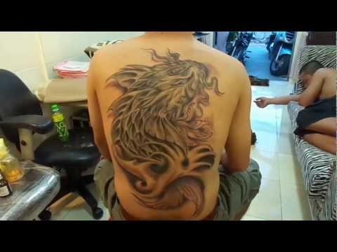 Cá Chép Hóa Rông 3D,fish tattoo, HoàngAnhTATTOO TP Cần Thơ
