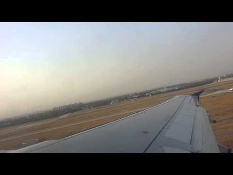 Indigo airlines take off from delhi