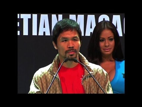 Boxer Pacquiao trains in Macau ahead of world title bout