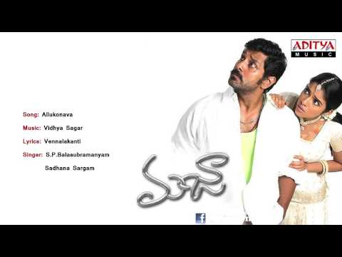 Majaa Telugu Movie | Allukonava Full Song | Vikram, Aasin