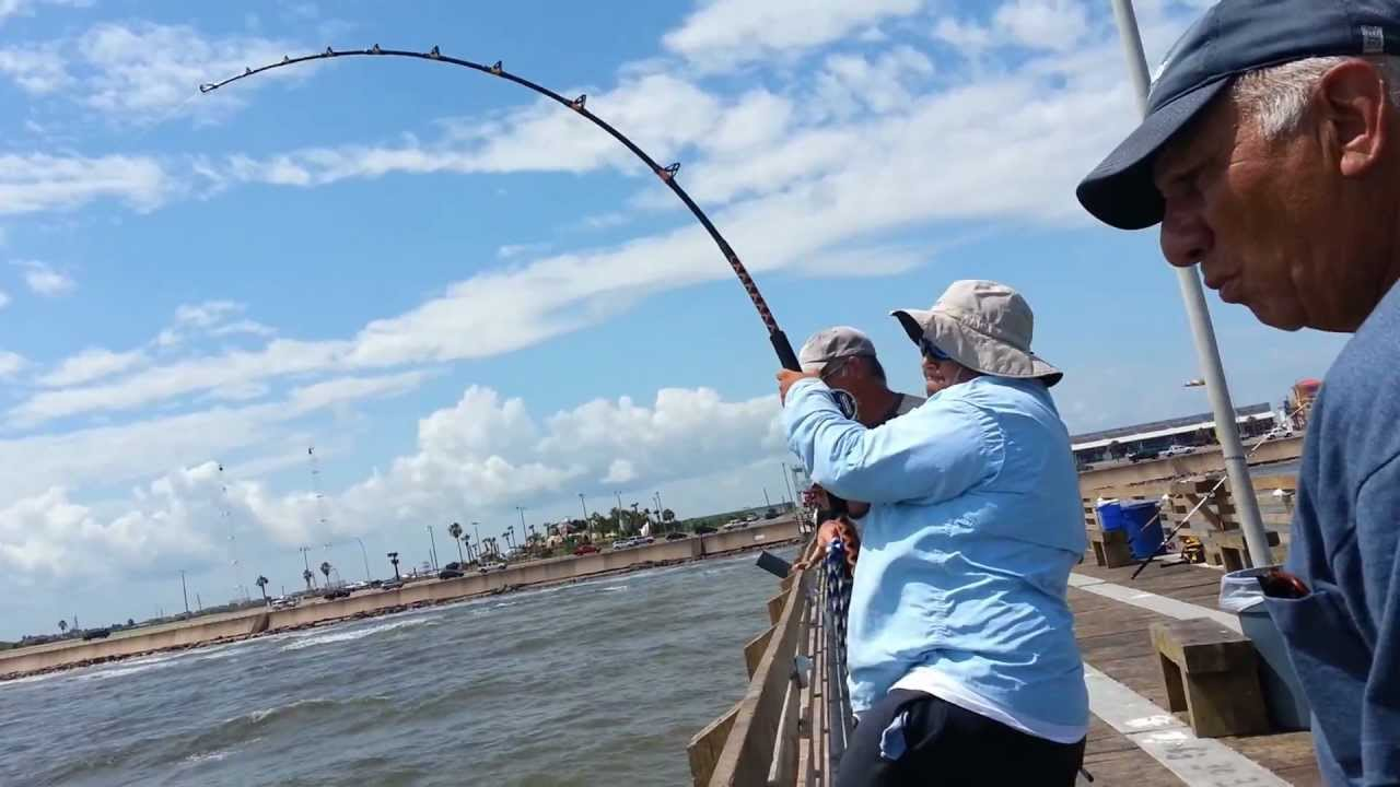 galveston fishing pier youtube
