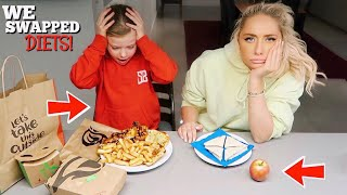 I swapped DIETS with a 7 year old for 24hours!!