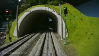 Führerstandsmitfahrt ICE Hochgeschwindigkeitszug auf der Spur H0 Anlage der Modellbahn Odenwald