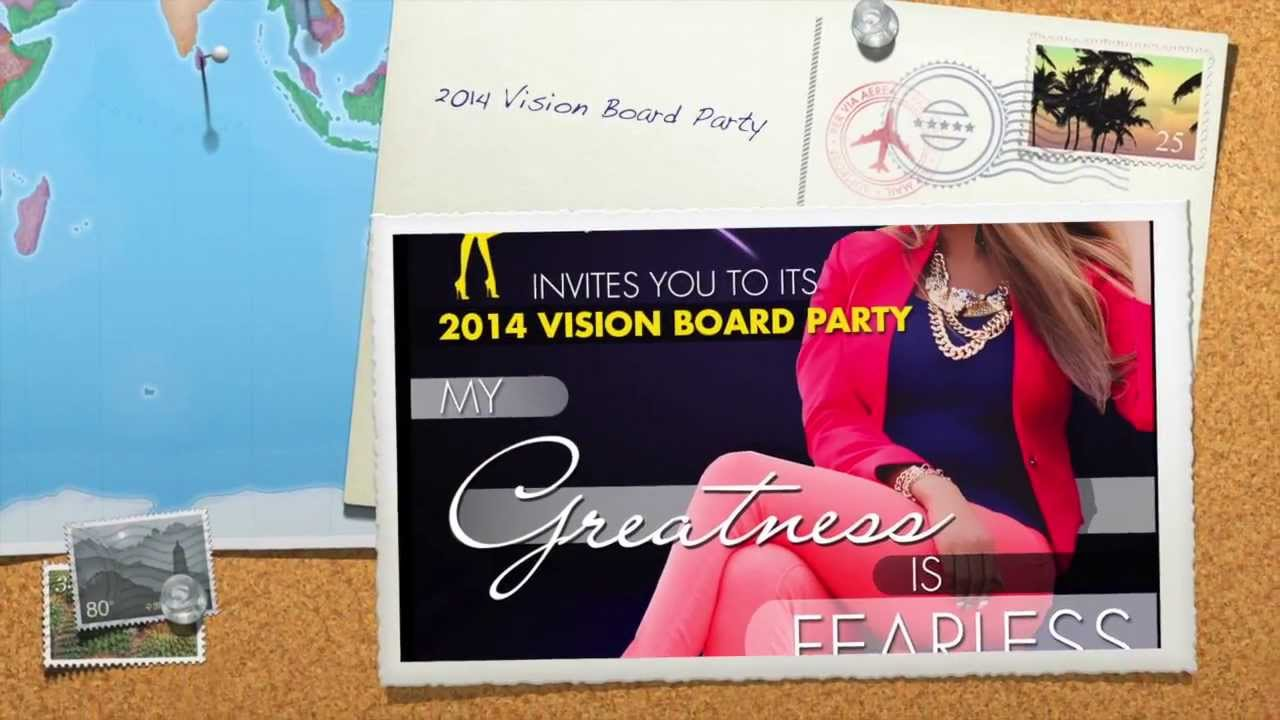 """Greatness In You, Inc. 2014 Vision Board Party """"My ..."""